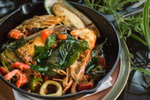 Seafood PAD CHA - delivery menu