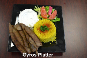 Kids Gyros Platter - delivery menu