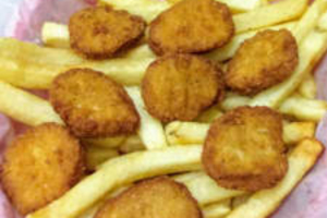 8pc ck nuggets w/fries and bbq sacue - delivery menu
