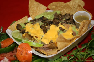 4. Nachos with Meat, Beans, Cheese and Guacamole - delivery menu