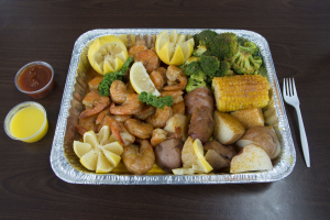 1. Large Shrimp Platter - delivery menu