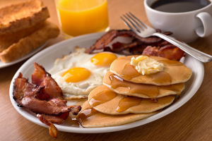 Deluxe Pancakes Breakfast - delivery menu