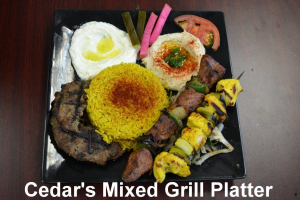 Cedar's Mixed Grill - delivery menu