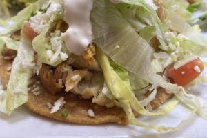 3 Chicken Tostadas - delivery menu