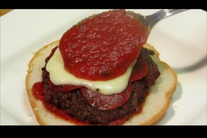 6 oz. Pepperoni Pizza Burger - delivery menu