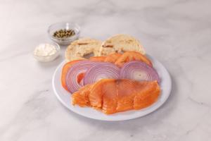Smoke Salmon Plate - delivery menu