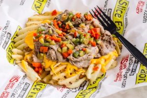 Beefed Up Cheese Fries - delivery menu