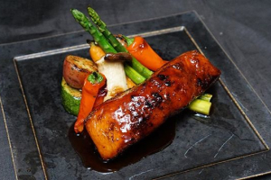 Wild King Salmon Teriyaki - delivery menu