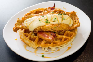 Chicken and Bacon Waffle - delivery menu
