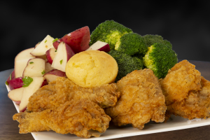 4 Pieces Dark Crispy Chicken Combo - delivery menu