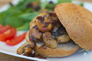 Mushroom and Onion Burger - delivery menu