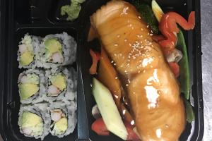 Salmon Teriyaki Bento Box - delivery menu
