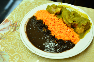 1/2 Chicken with Rice and Beans - delivery menu