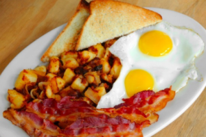 2 eggs any style with Homefries and Toast - delivery menu