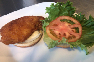Battered Fish Sandwich with Fries - delivery menu