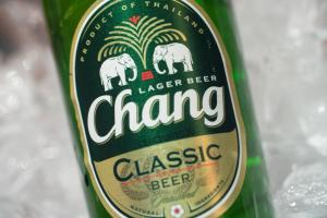 Chang (Thai Lager, 5% Alc) 10.8 oz Bottle or 6-Pack Bottles - delivery menu