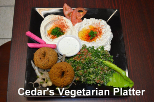Vegetarian Plate - delivery menu