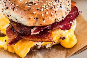 Bacon, Egg, and Cheese on a Bagel - delivery menu