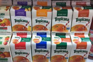 Tropicana 16oz carton  - delivery menu