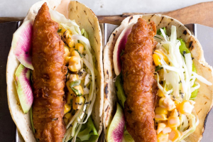 2 RED SNAPPER FISH TACOS & A CORONA ON THE HOUSE- - delivery menu
