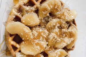 Apple Pie on the waffle - delivery menu