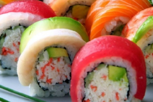 Rainbow Roll - delivery menu