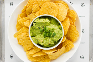 8 Oz. Fresh Guacamole with Baked Corn Chips - delivery menu