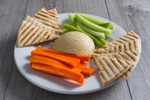 Hummus Platter w/ Fresh Baked Pita - delivery menu