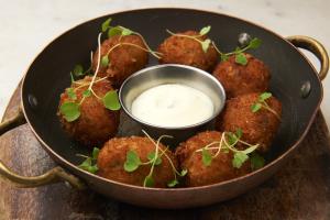 Wild Mushroom Risotto Balls Plate - delivery menu
