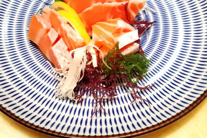 Salmon Sashimi starter - delivery menu