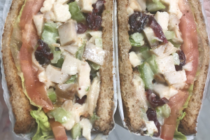 Chicken and Cranberry salad sandwich - delivery menu