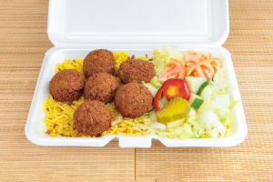 Falafel Over Rice Platter - delivery menu