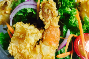 Y4. Crispy Shrimp Salad - delivery menu