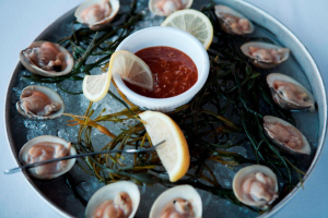 Fresh Clams on the Shell - delivery menu