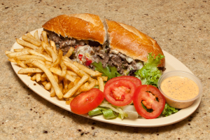 Philly Cheese Steak Sandwich with Fries - delivery menu