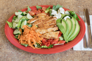 Grilled Chicken Deluxe Salad - delivery menu