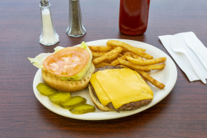 Cheese and Beef Burger - delivery menu