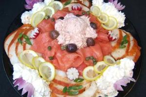 Nova, Sable, Baked Salmon Salad Platter - delivery menu