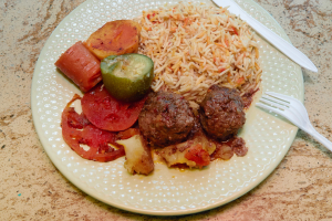 Shish Kofta Platter - delivery menu