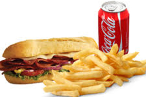 """8"""" Sub, Fries & Can of Soda Special (Pick-Up Only) - delivery menu"""