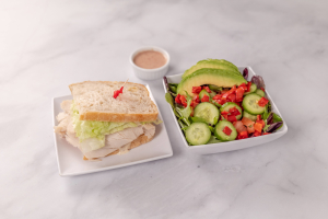 1/2 Sandwich and 1/2 Salad - delivery menu
