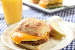2 Eggs and Sausage Breakfast Sandwich  - delivery menu