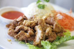 102. Crispy Pork with Fried Rice - delivery menu