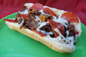 Pepperoni Cheesesteak Sub & Side - delivery menu