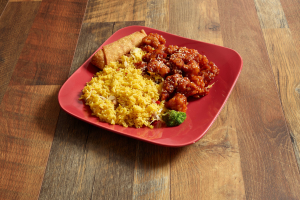 C20. Sesame Chicken Combination Plate - delivery menu