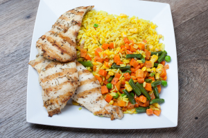 Grilled Chicken with Rice and Vegetables - delivery menu