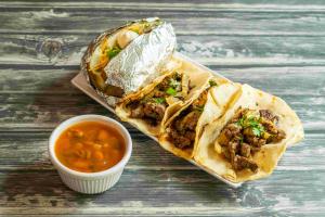 4 Carne Asada Tacos - delivery menu