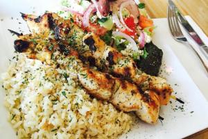 Pork Souvlaki Platter - delivery menu