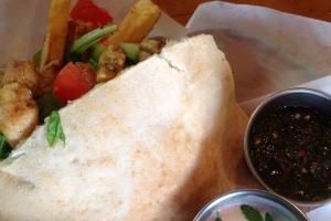 Chicken Schwarma Pita Sandwich - delivery menu