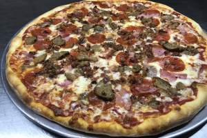 """16"""" Large Meat Lovers Pizza - delivery menu"""